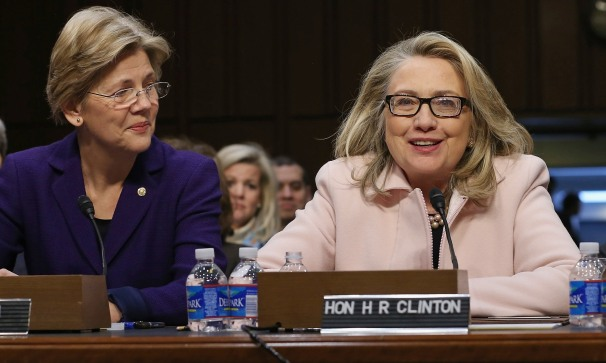 picture of Warren and Clinton
